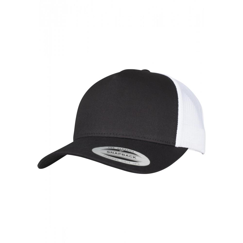 5-Panel Retro Trucker 2-Tone Cap Black/White