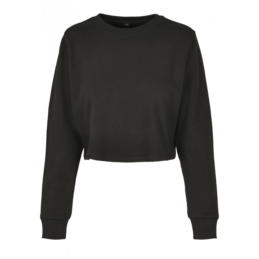 Ladies Terry Cropped Crew Musta