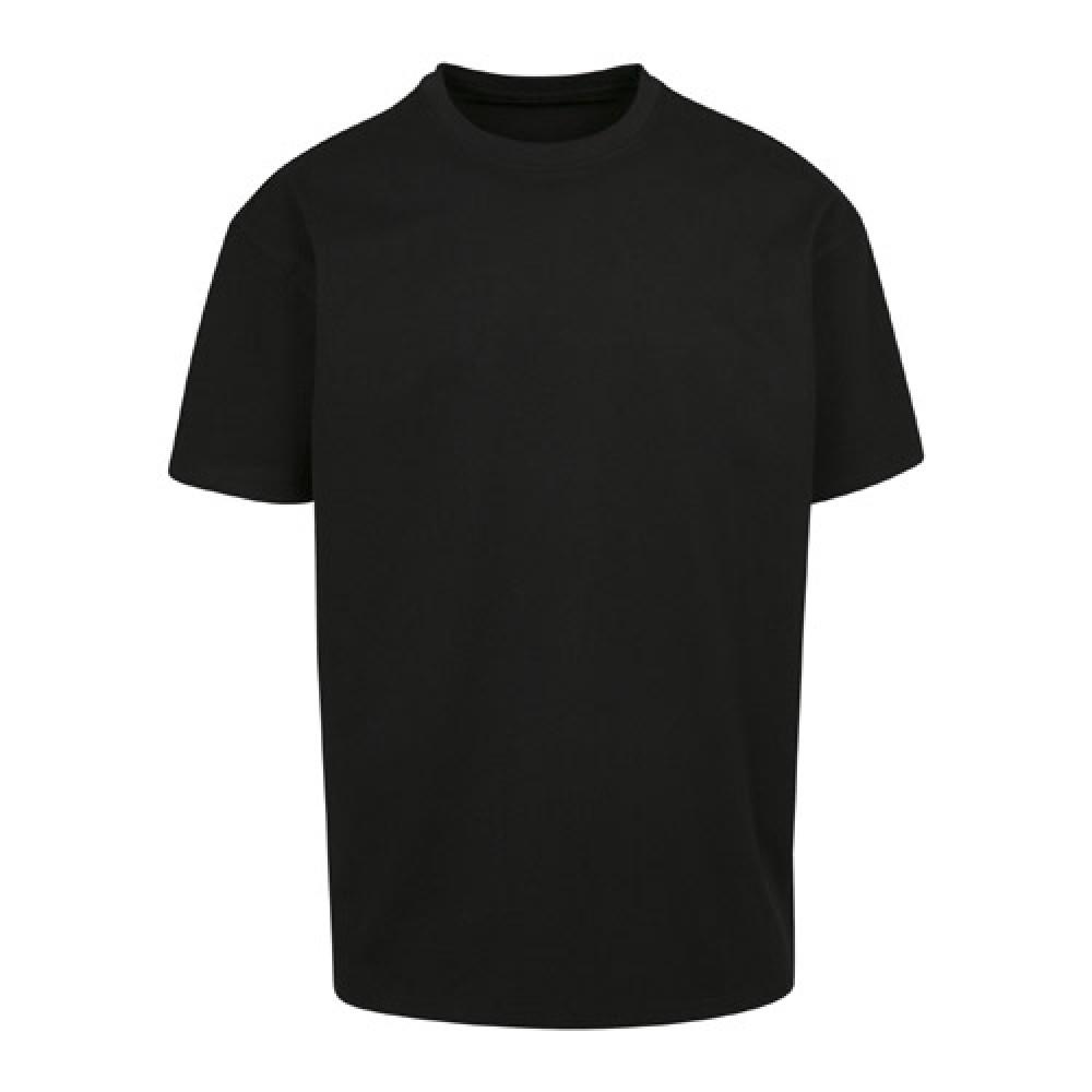 Heavy Oversize T-Paita Musta