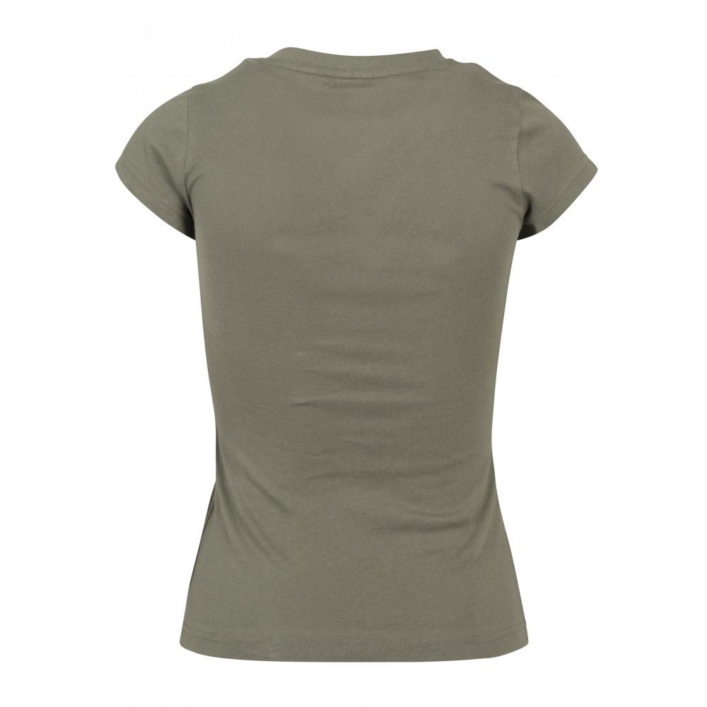 Naisten Basic T-Paita Oliivi