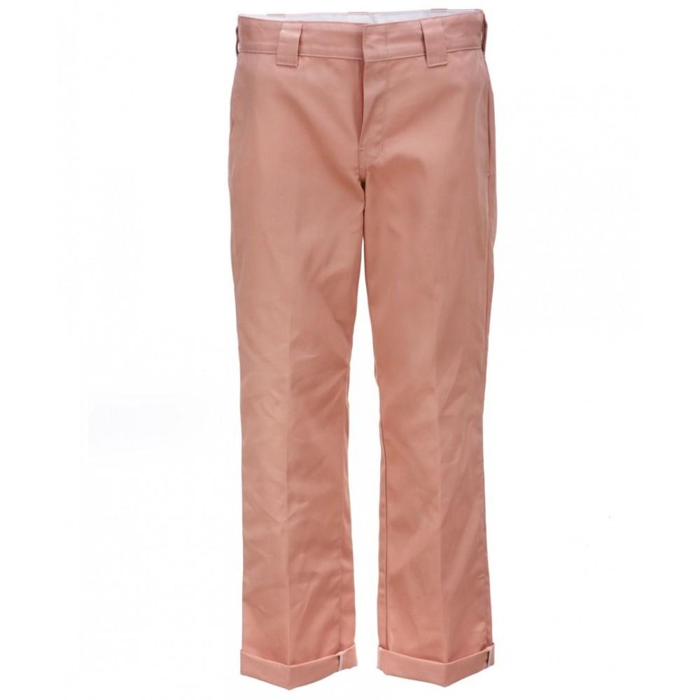 "Dickies 873 ""Slim Straight"" Worker Housut Flamingo"