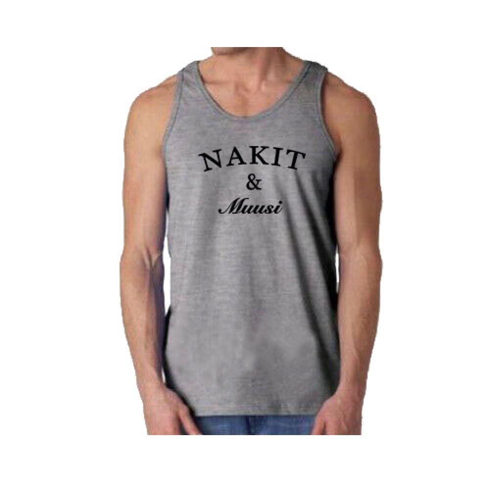 Nakit & Muusi Original Logo Tank Heather Harmaa