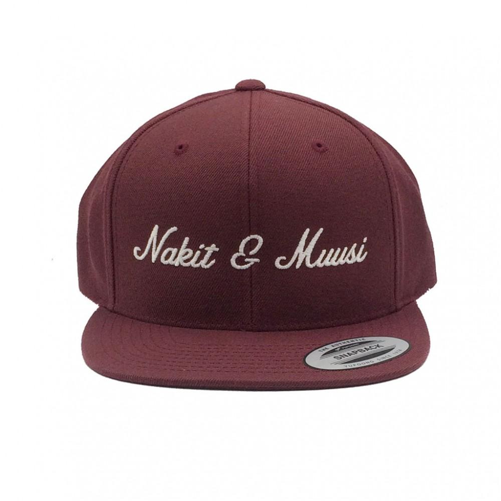 Nakit & Muusi Amplify Snapback  Lippis Maroon