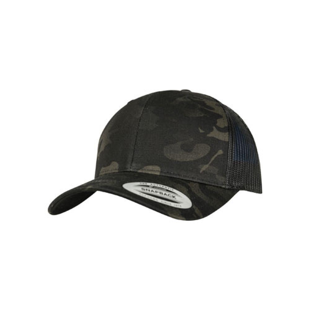Retro Truckerlippis Multicam® Musta Multicam