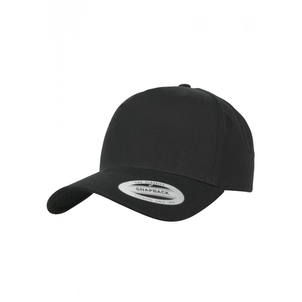 5-Paneelinen Kaareva Classic Snapback Lippis Musta