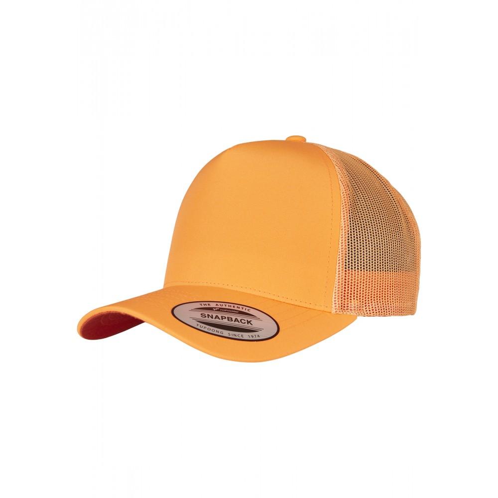 5-Panel Retro Trucker Lippis Neon Oranssi
