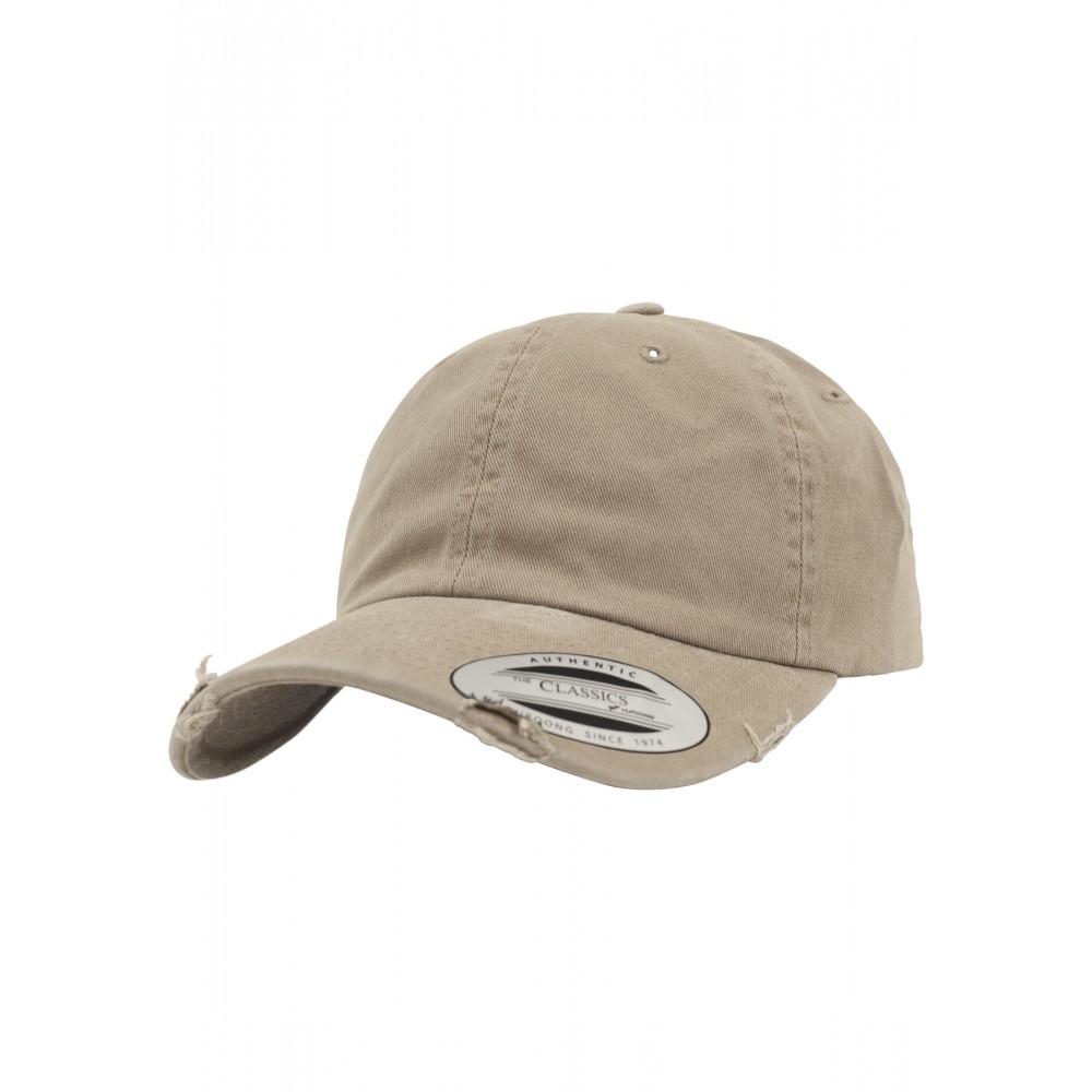 Low Profile Destroyed Cap Khaki