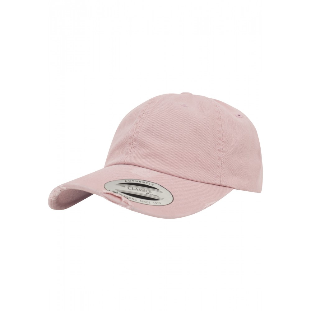 Low Profile Destroyed Cap Pink
