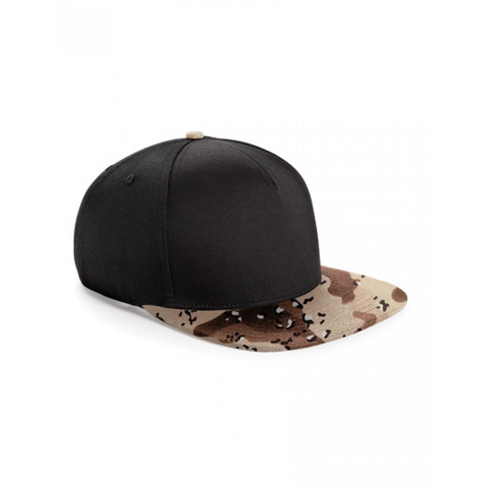 Camo Snapback Lippis - Musta/Ruskea Camo