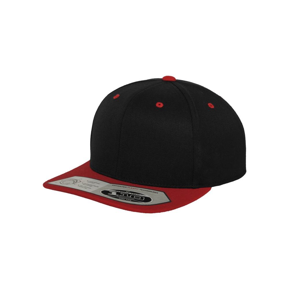 Flexfit 110 Snapback Musta/punainen