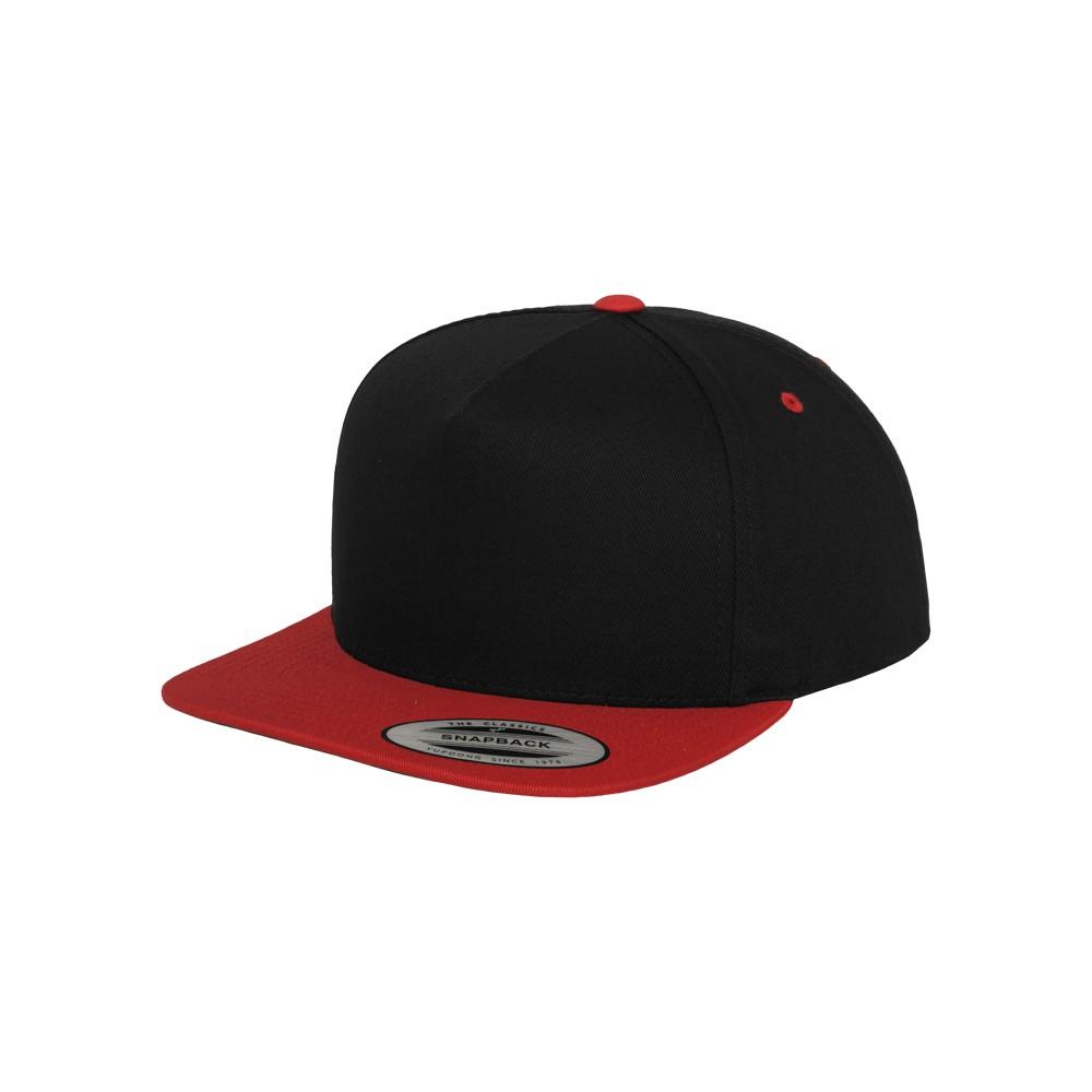 Classic 5 Paneeli Snapback Lippis musta/punainen