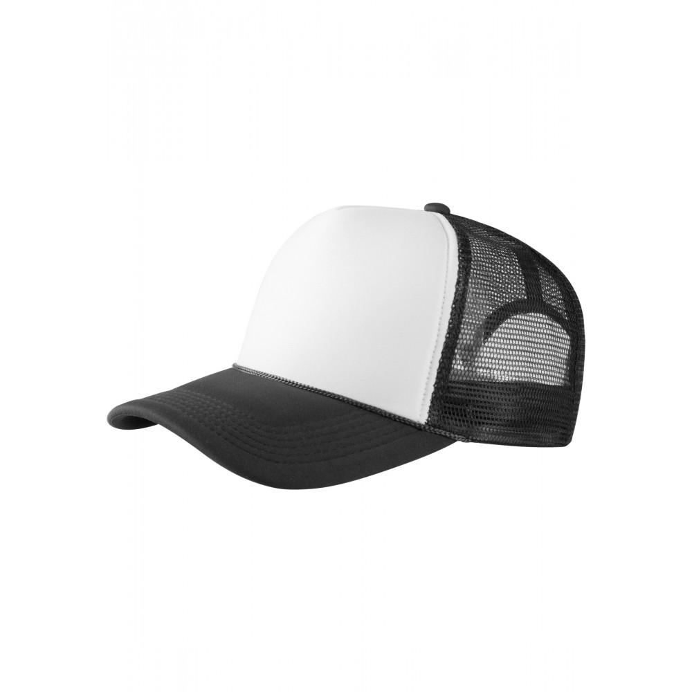 Baseball Cap Korkeaprofiili Trucker Lippis Musta/Valkoinen